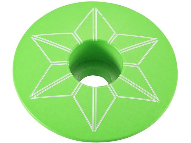 Supacaz Star Capz Ahead-Kappe pulverbeschichtet neon grün